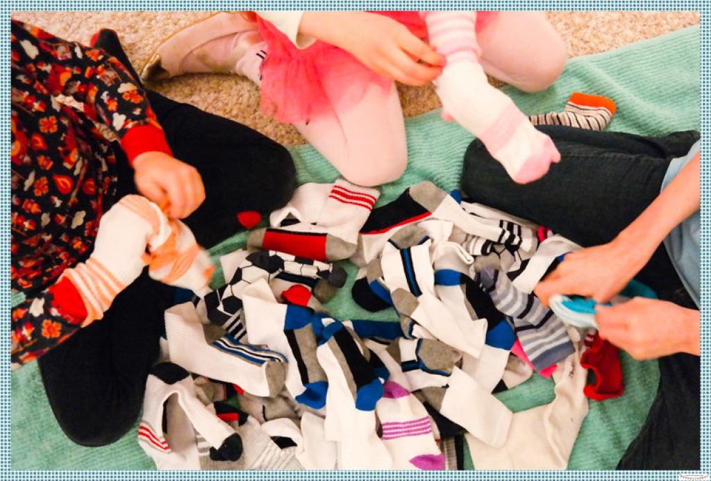 Aufräumen mit Kindern