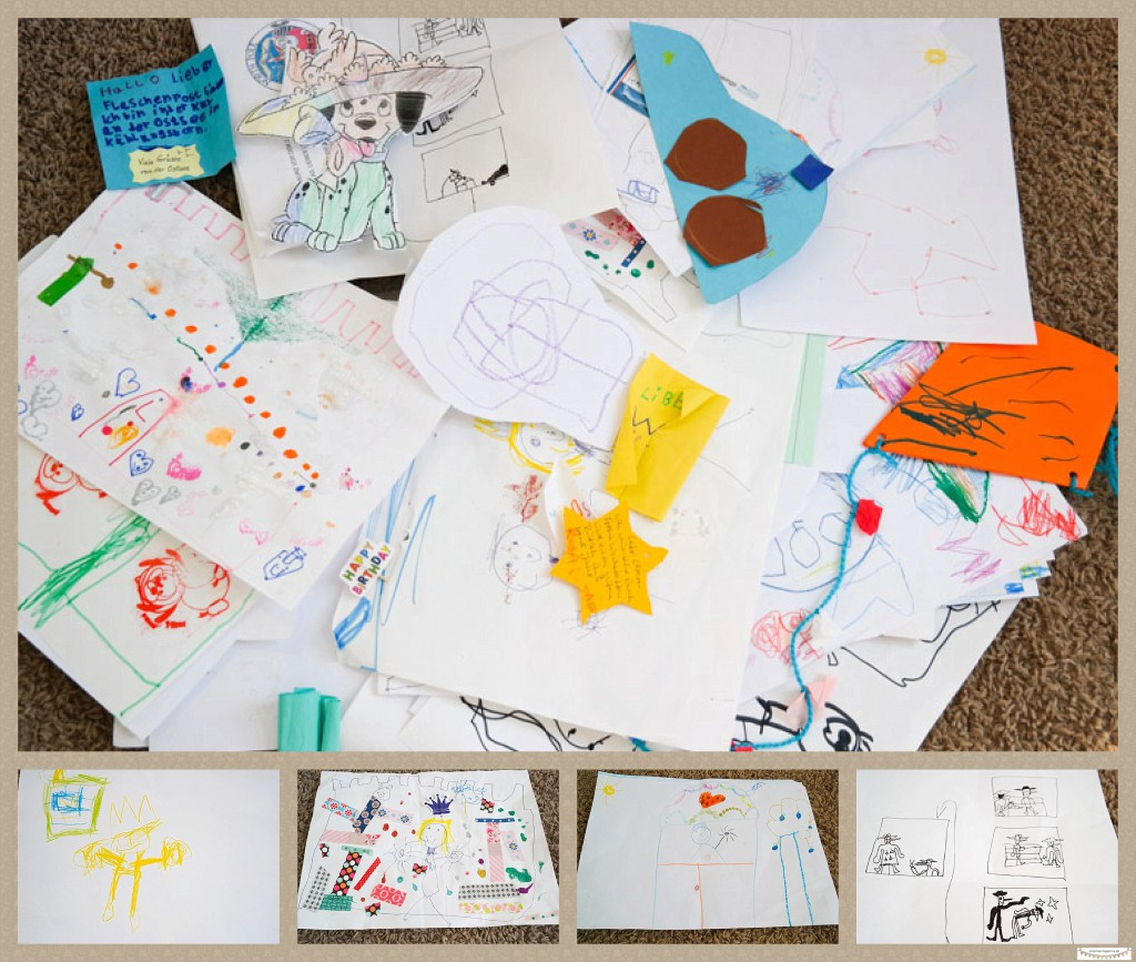Kinderkunst platzsparend aufbewahren