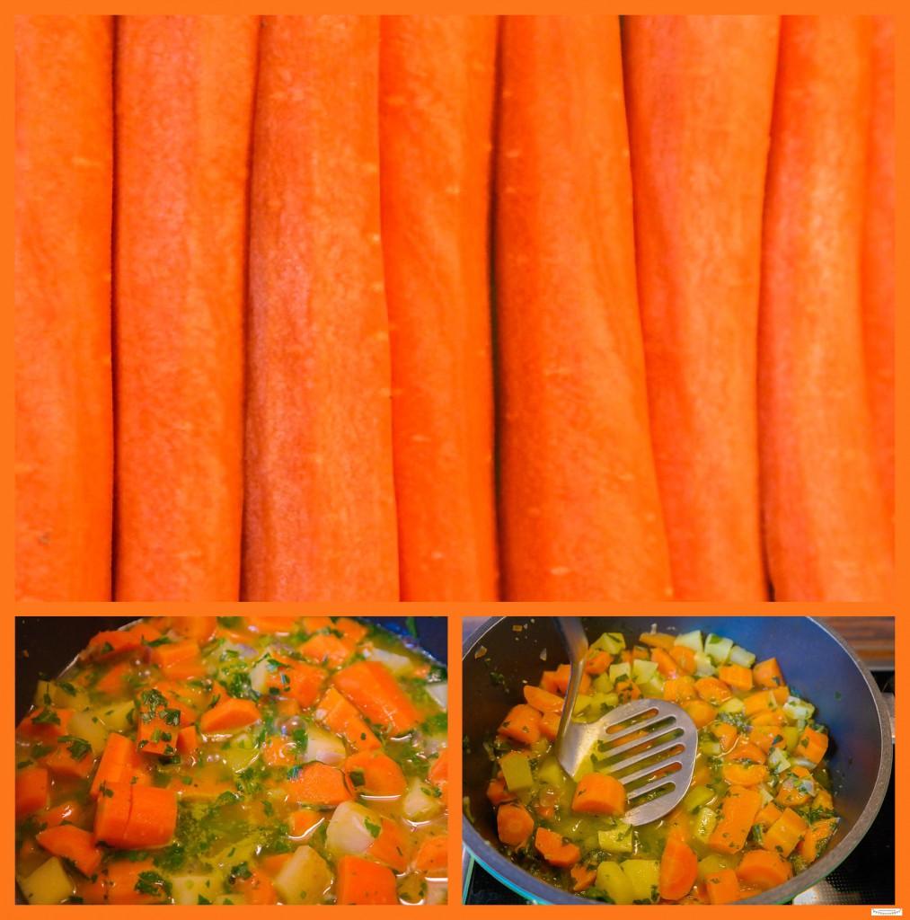 Kartoffelsuppe mit Möhren / Karotten