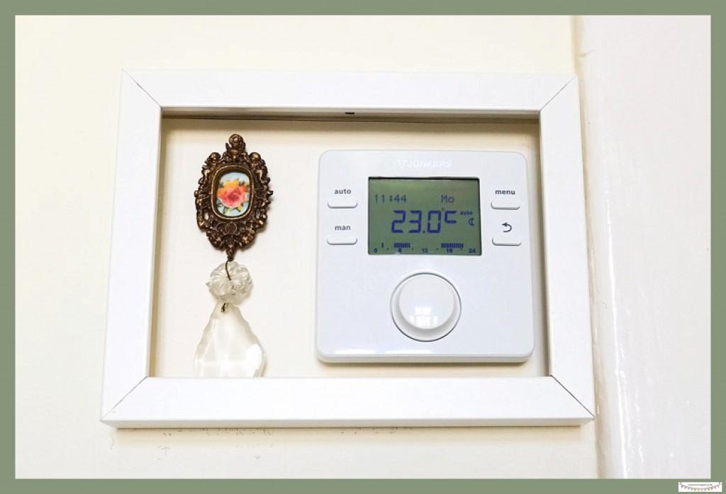 Thermostat dekorativ integrieren