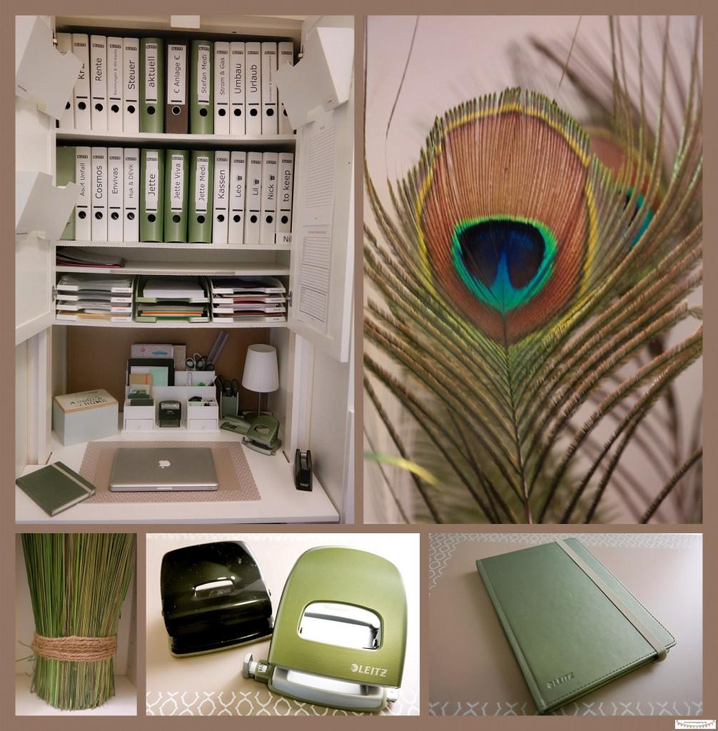 Homeoffice gestalten in grün