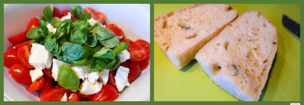 Tomatensalat mit Ciabatta