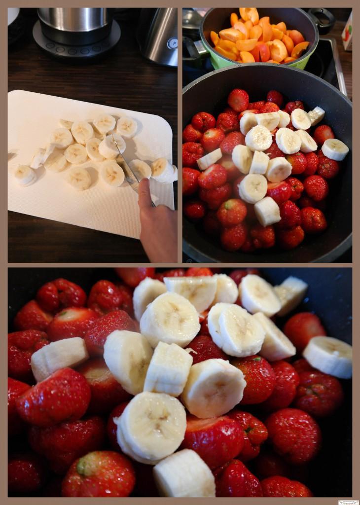 Erbeermarmelade mit Bananen Rezept