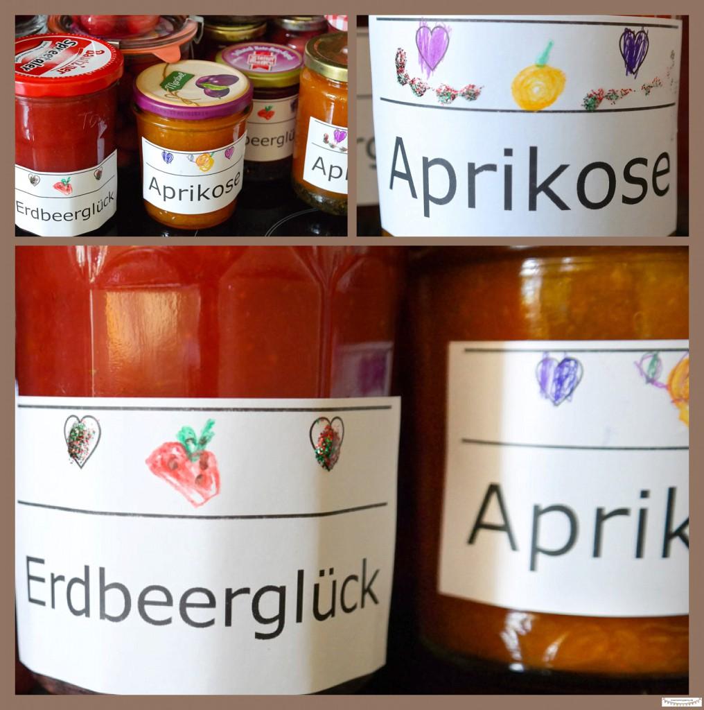 Marmeladenetiketten verzieren