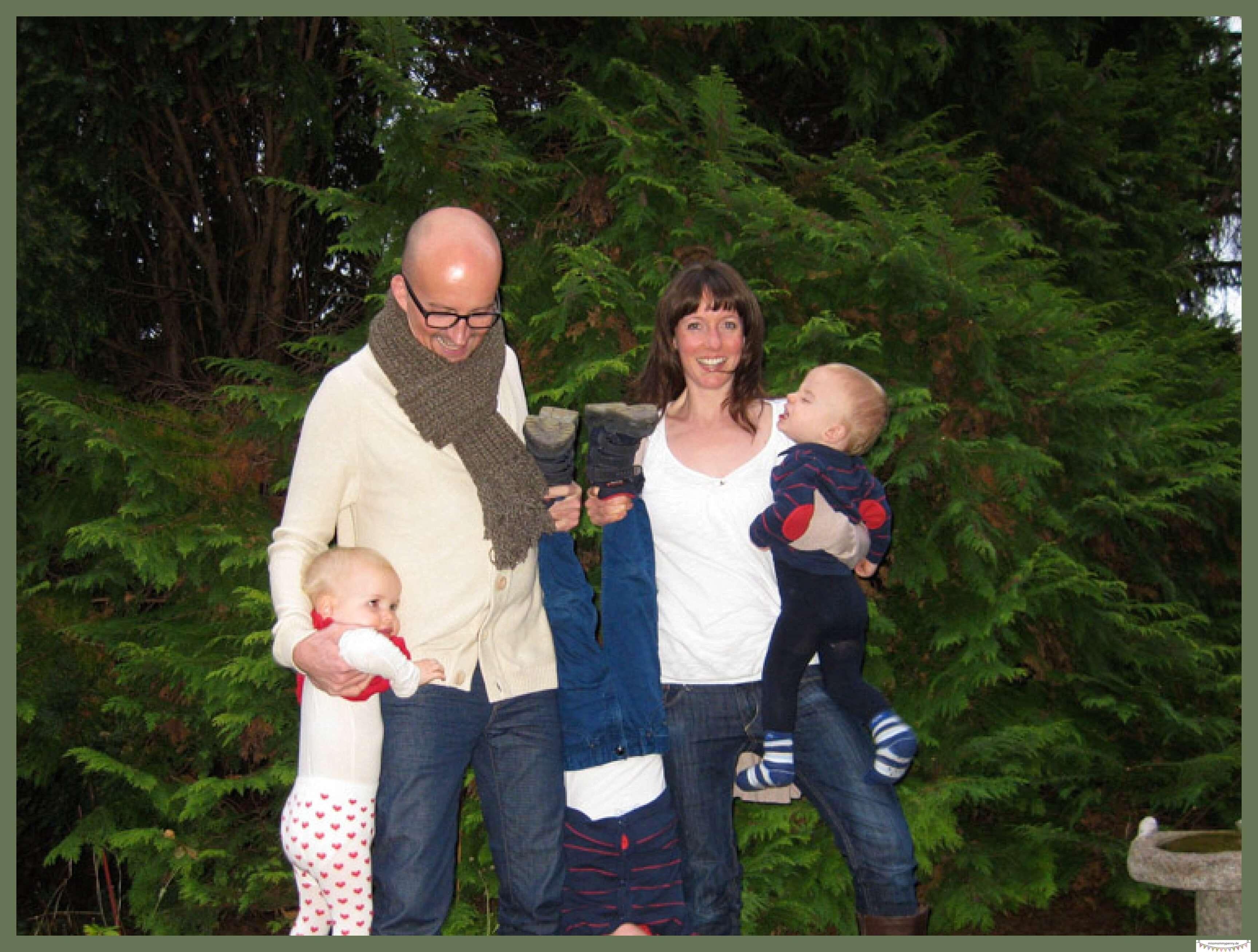 chaotische Familienfotos