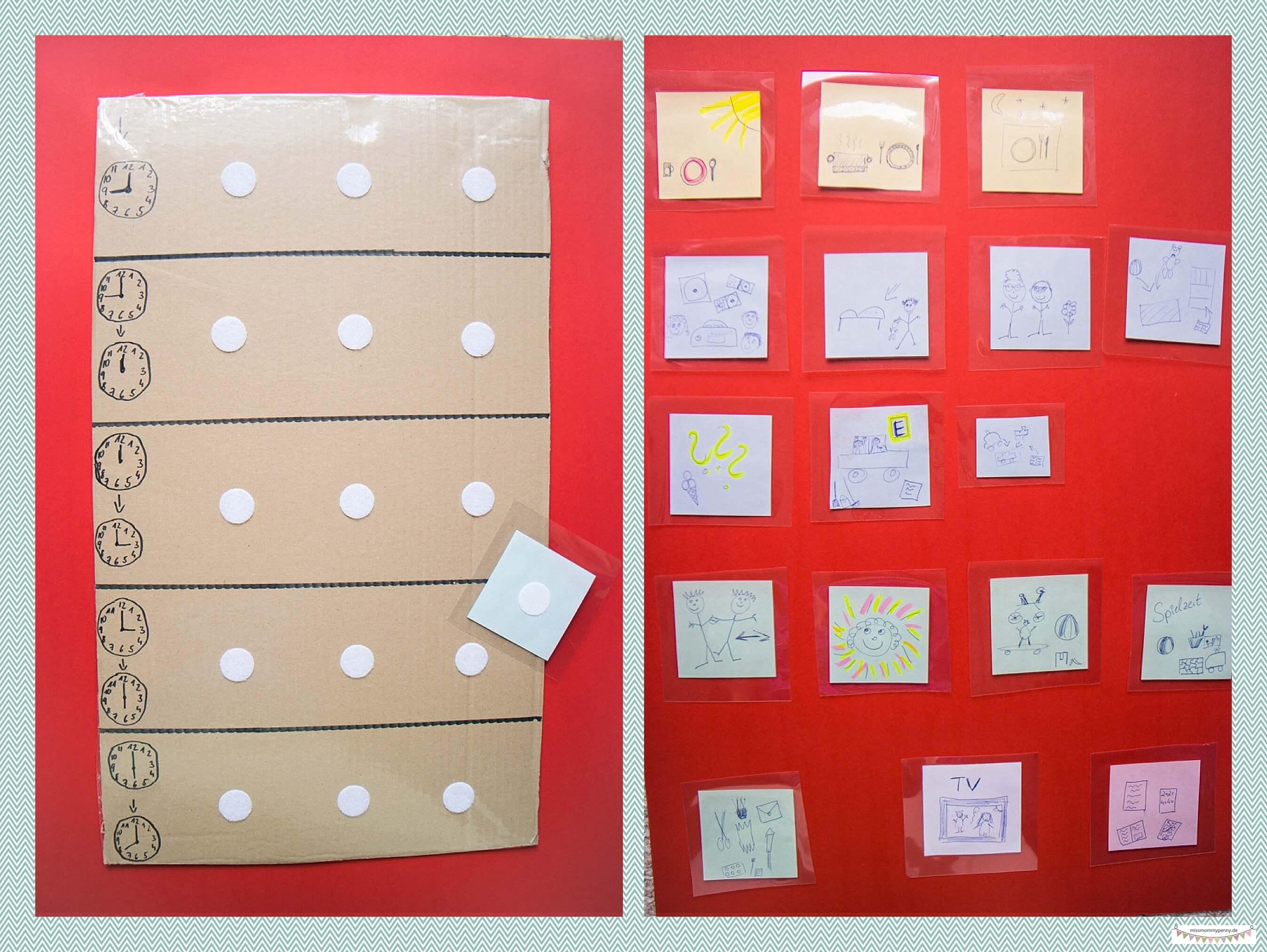 Tagestafel für die Tageplanung