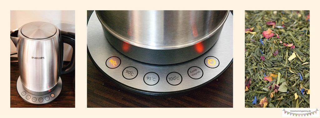 Philips Wasserkocher mit Temperaturregler