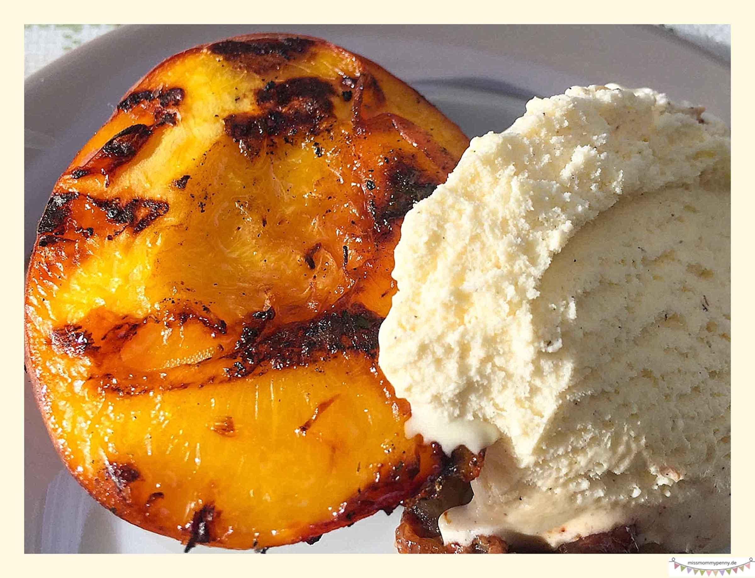 Gegrillte Pfirsiche
