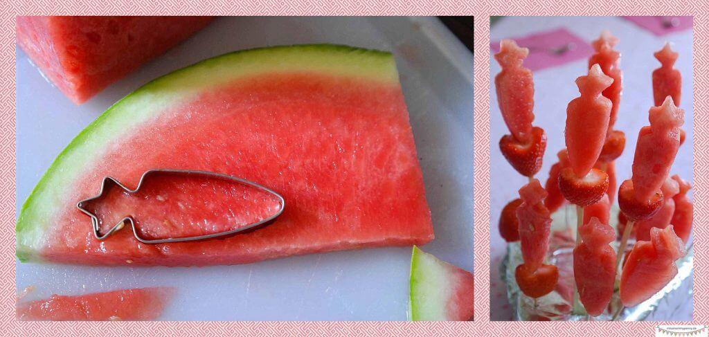 Gesunder Kindergeburtstag , Melonenspieße