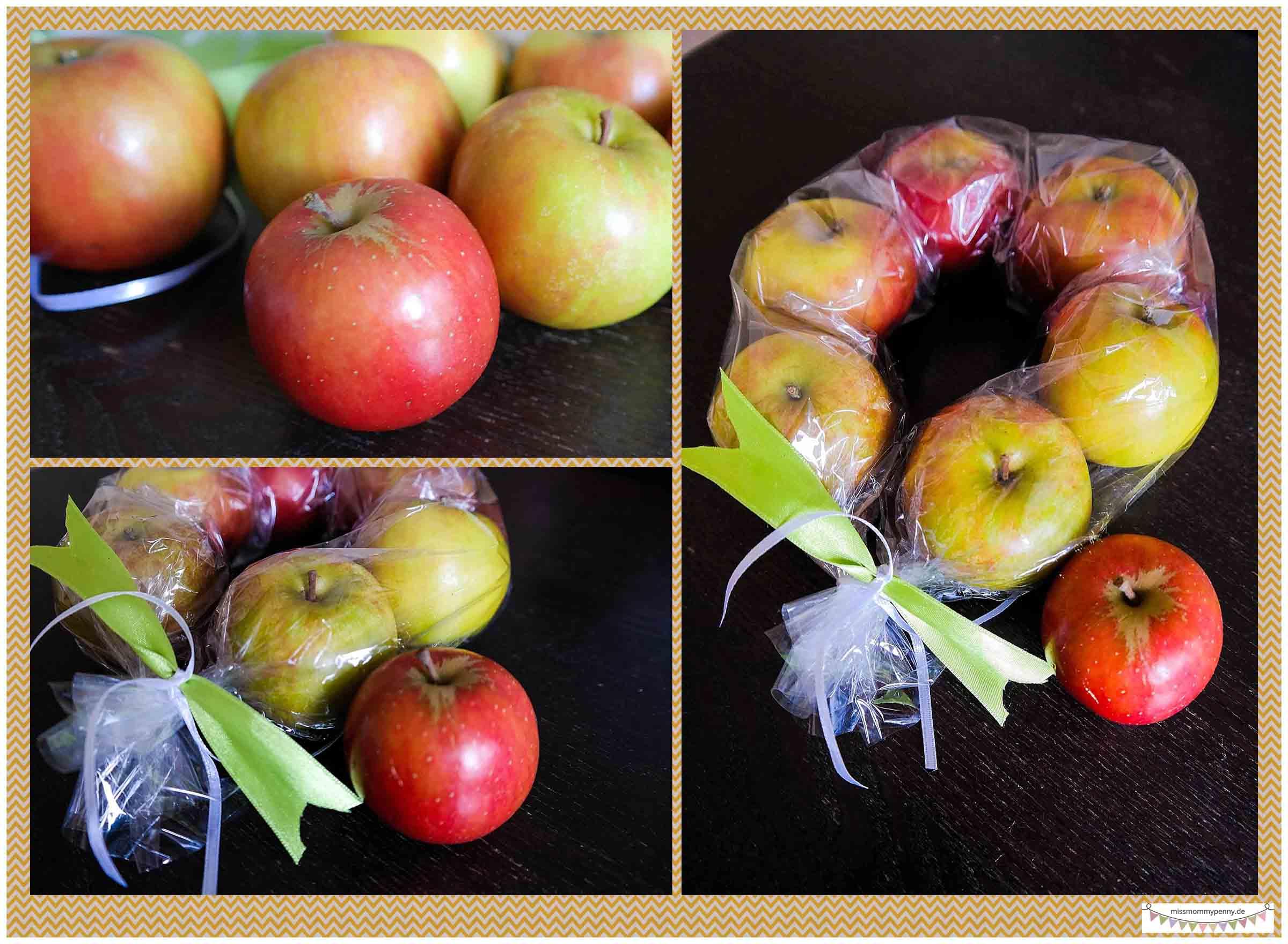 Apfelkranz binden - Nachbarschaftsgeschenk