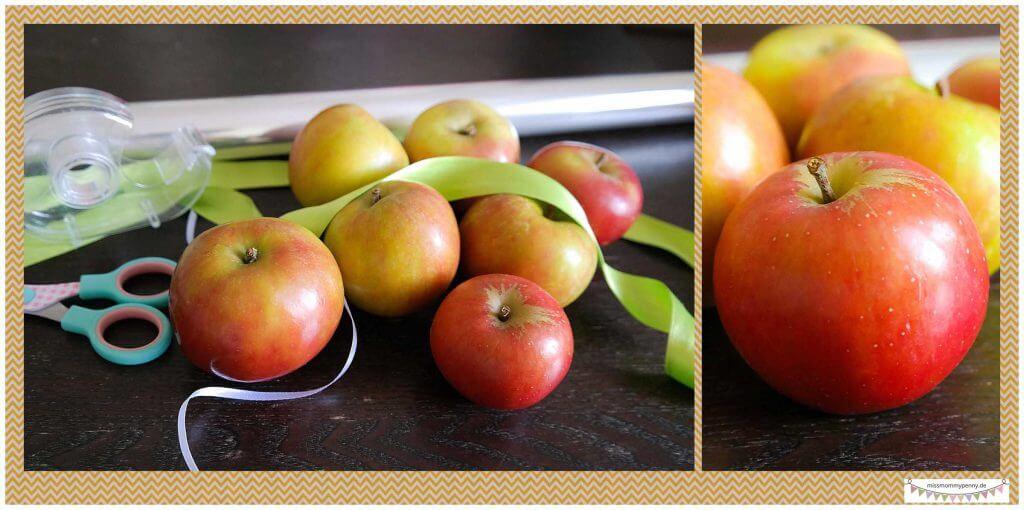 Äpfel als Geschenk verpacken