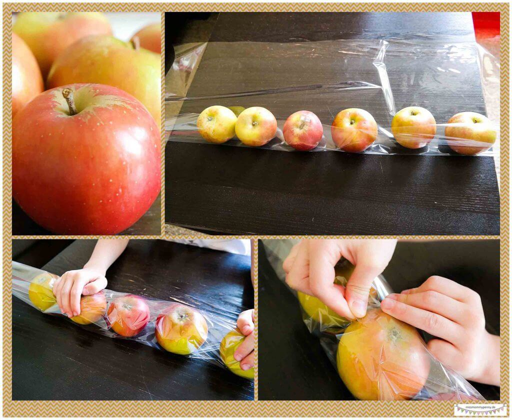 Äpfel geschmackvoll verpacken