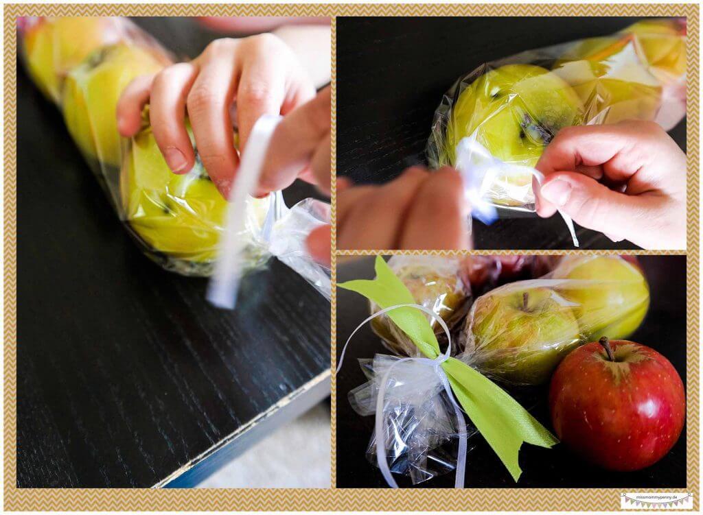 Äpfel verschenken Herbstgeschenk