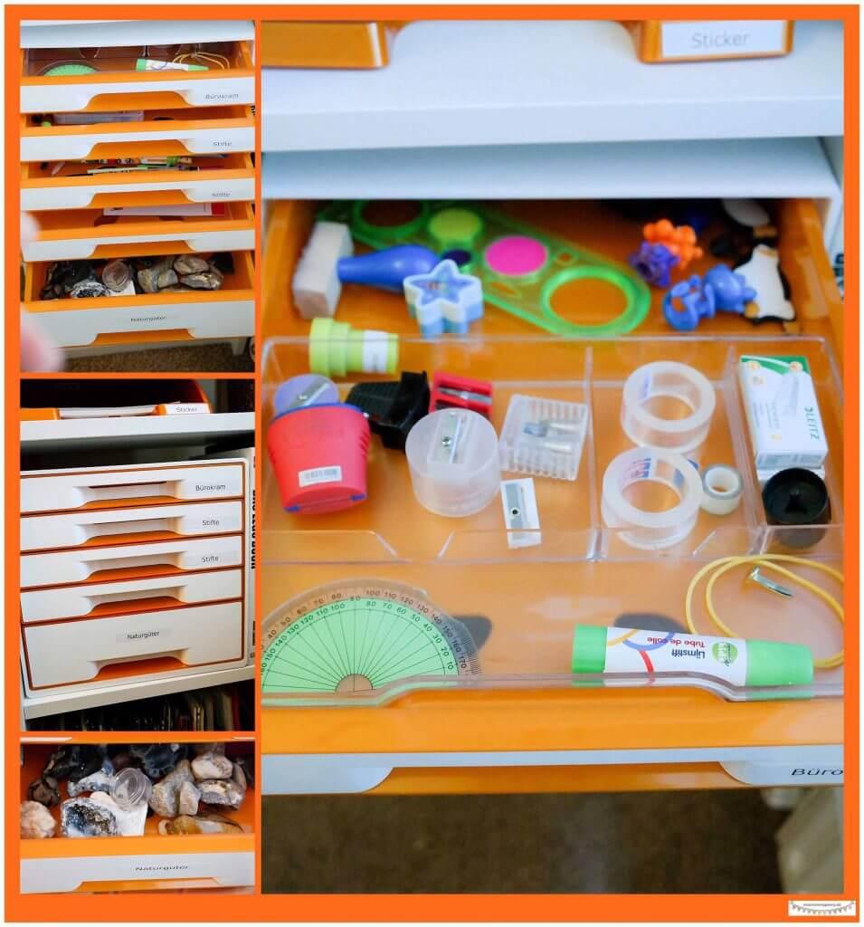 Büromaterial ordnen mit Leitz Cube