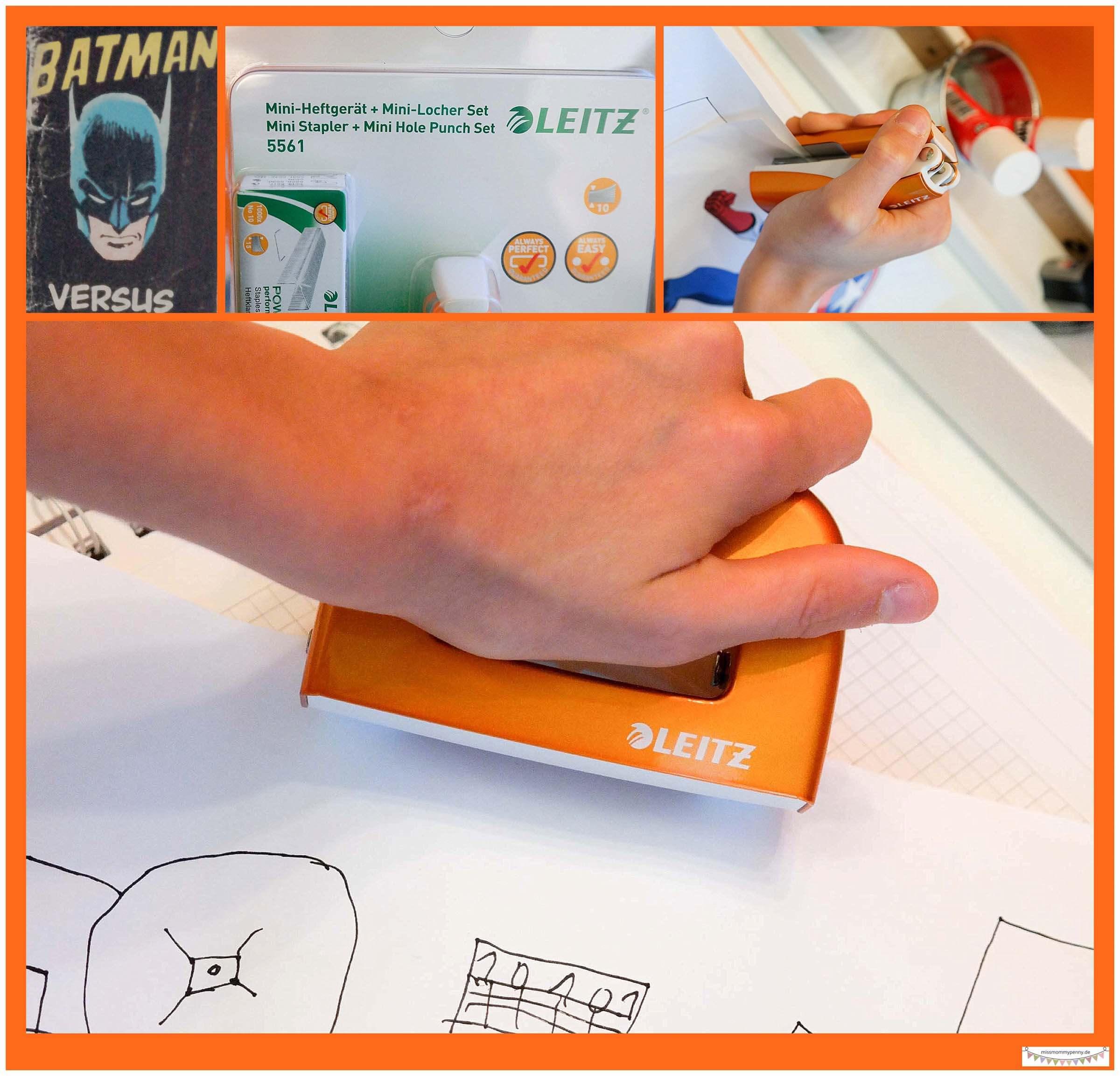 Heftgerät und Locher für kleine Hände