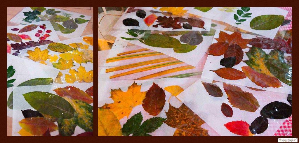 Blätterlaterne aus laminierten Blättern