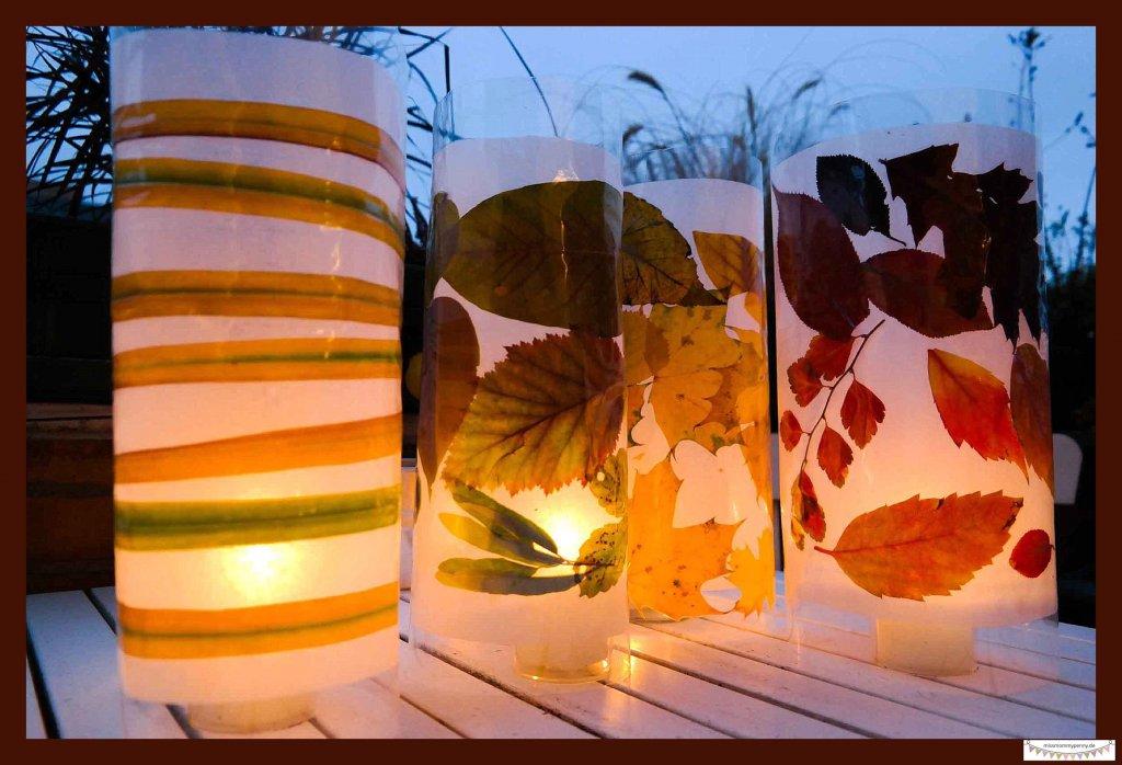 Herbstblätter dekorativ anrichten