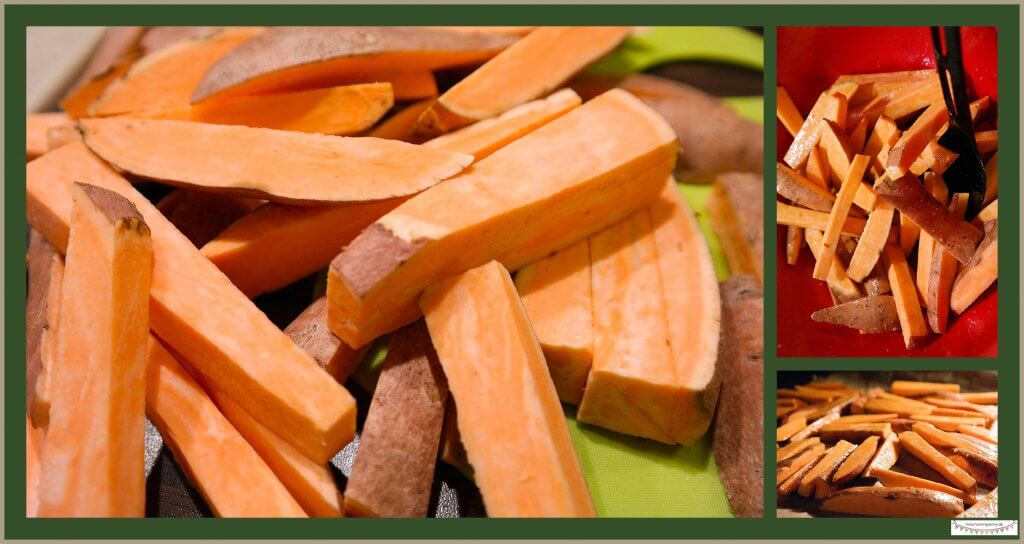 Fettarme Süßkartoffelpommes im Ofen zubereiten