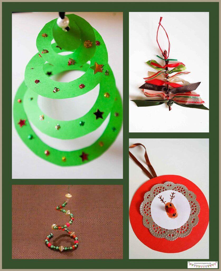 Günstige Anhänger für den Weihnachtsbaum mit Kindern basteln