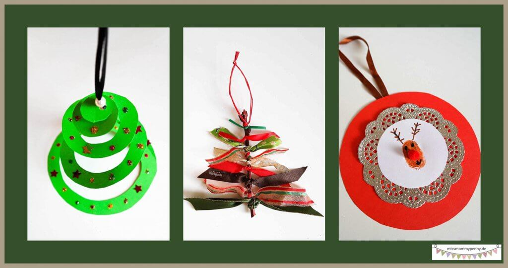 Mit Kindern für Weihnachten basteln, Bastelidee