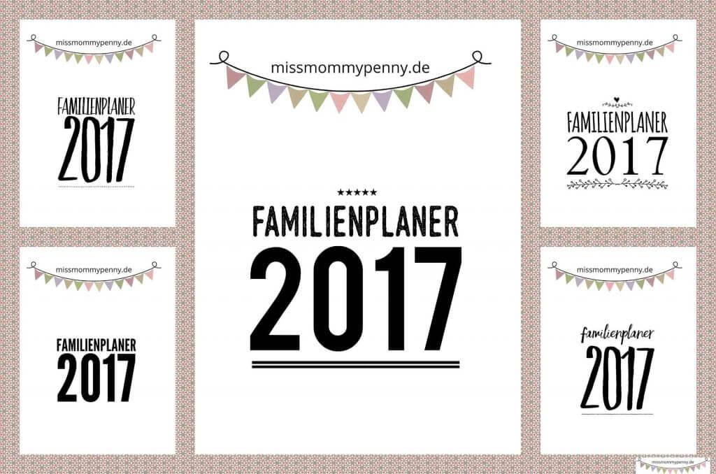 Flexibler Familienplaner 2017 im din a4 Format