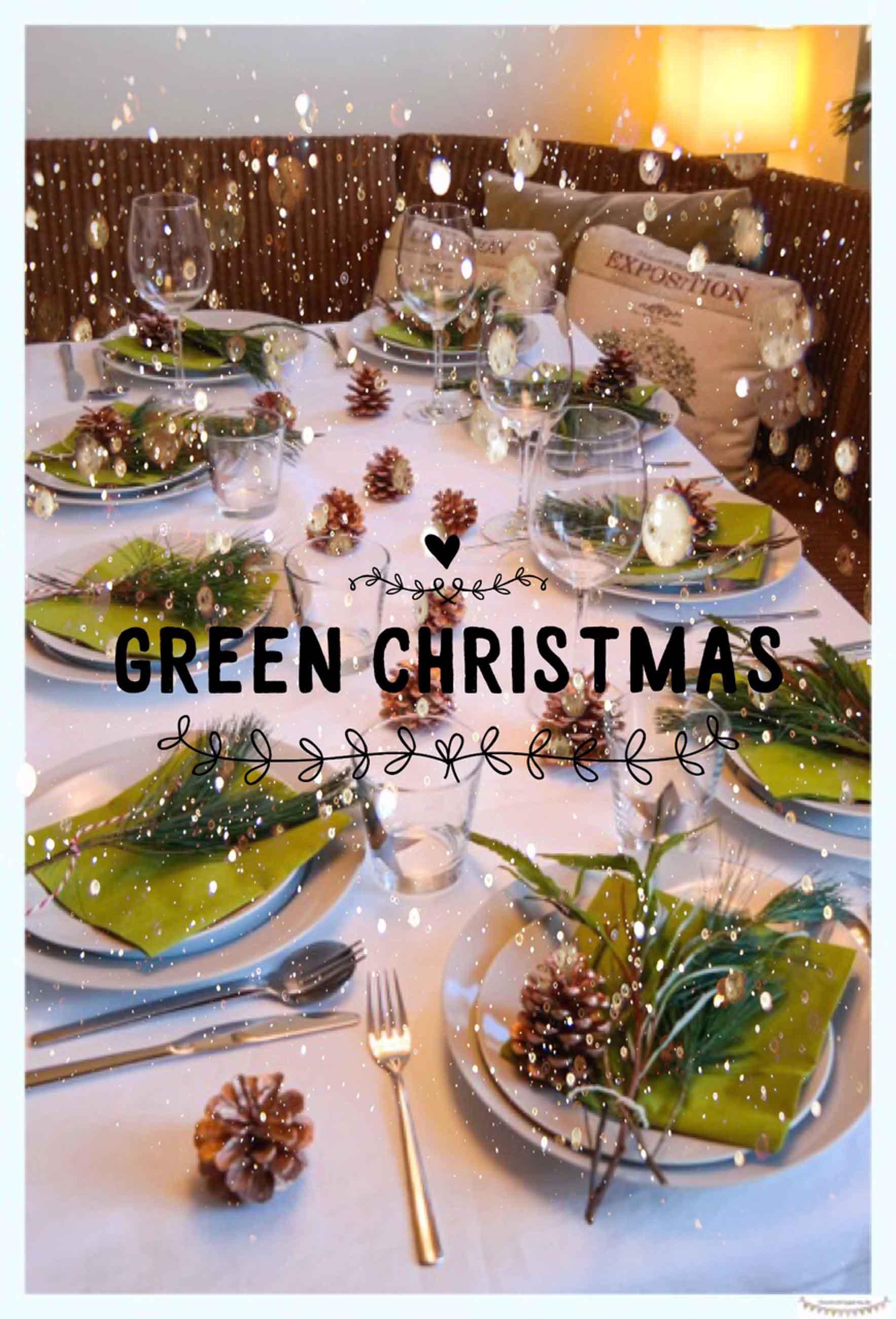 Festtafel eindecken in grün