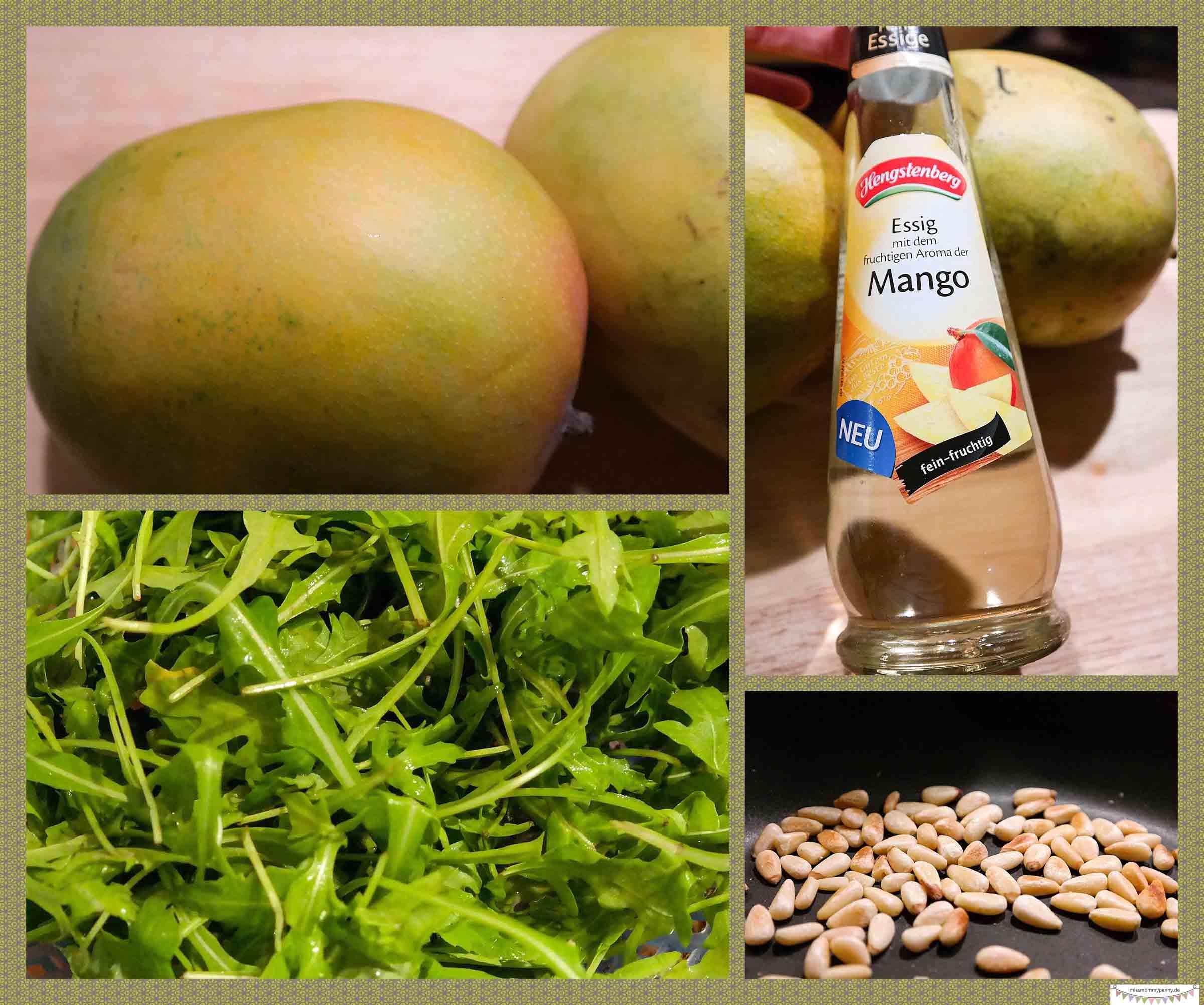 Mango-Mozzrella-Rucola Salat mit Hengstenberg Essig