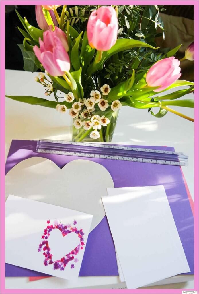 Valentinskarten basteln