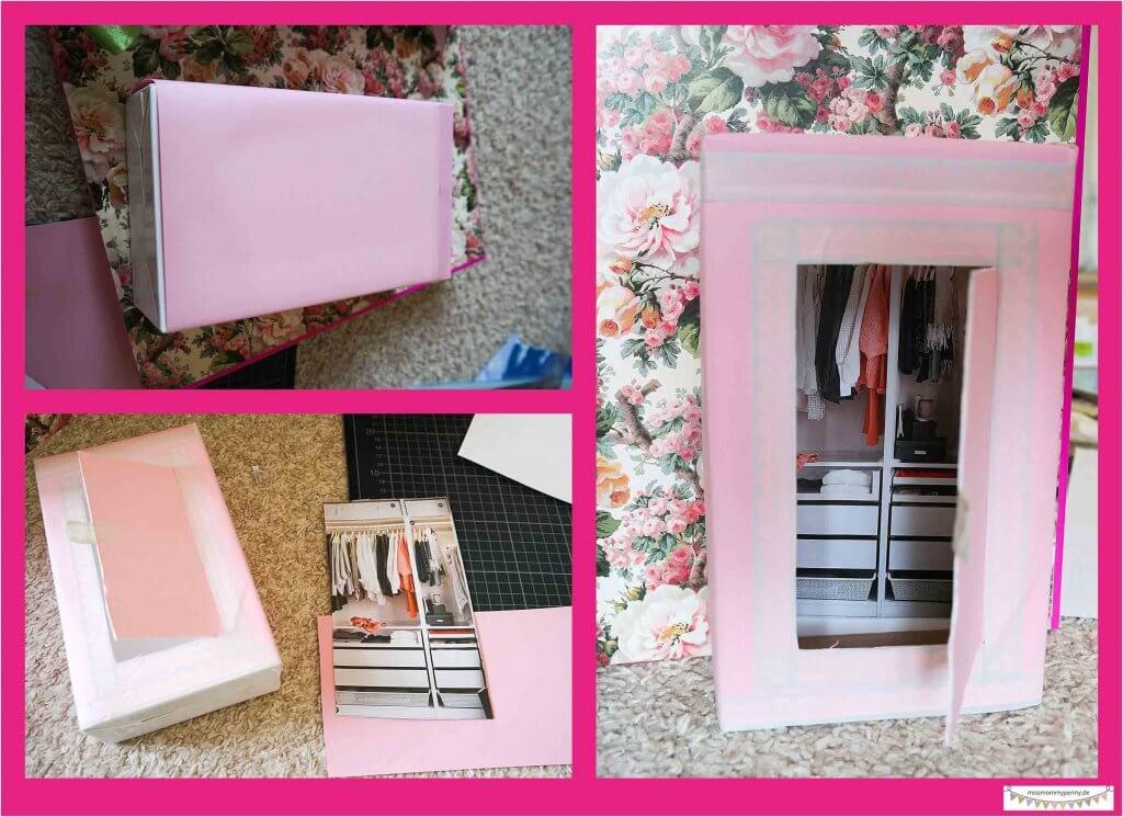 Kleiderschrank für Barbie basteln