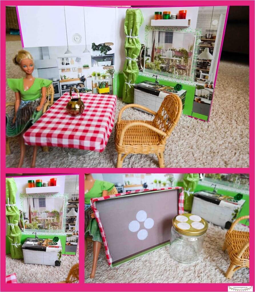 zusammenklappbares Barbiehaus / Puppenhaus
