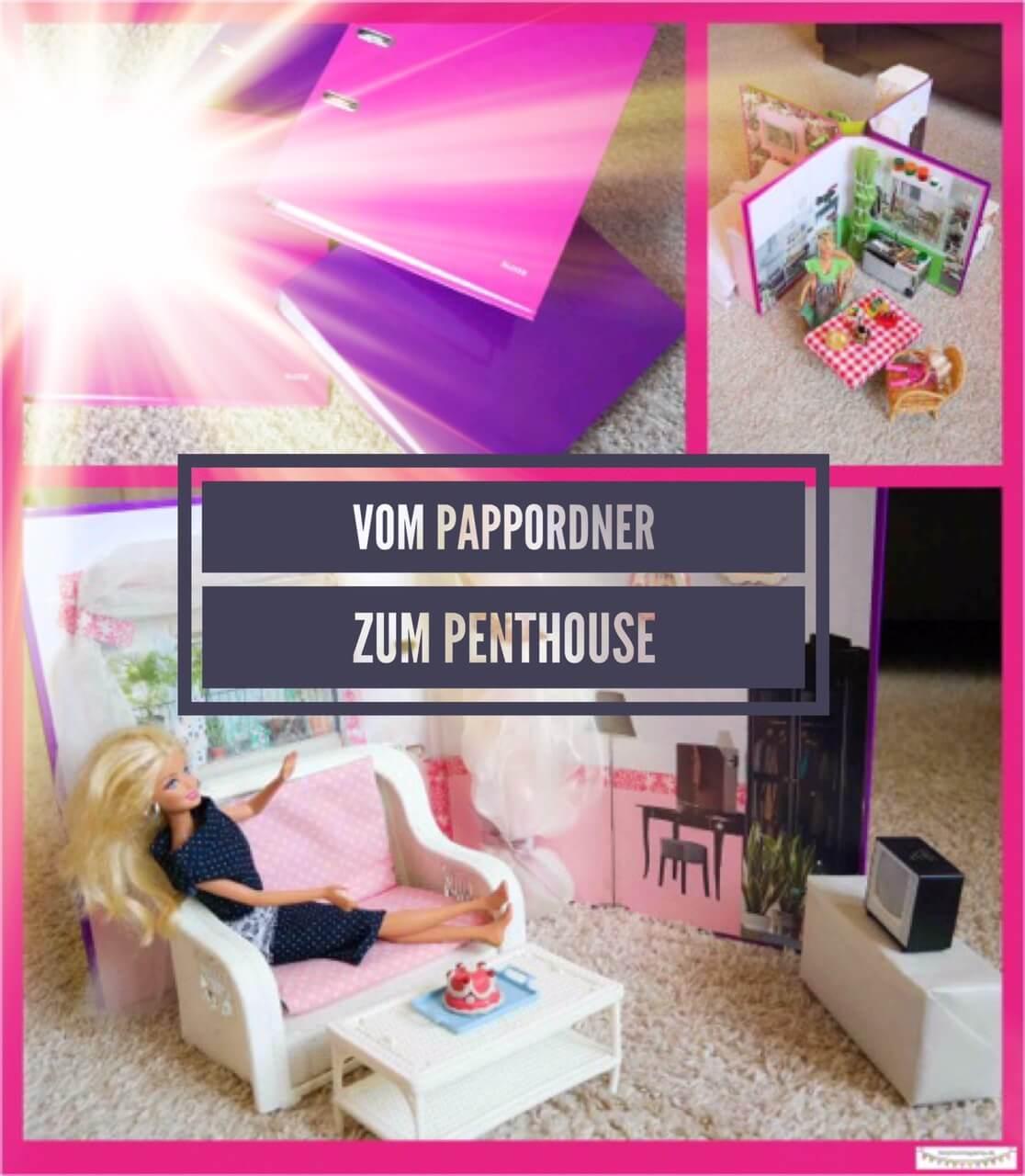 Platzsparendes kleines Barbiehaus