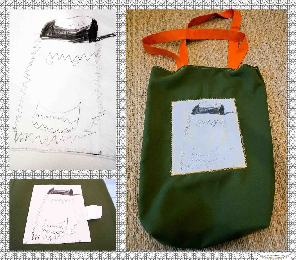 gemalte kinderbilder auf stoff drucken missmommypenny. Black Bedroom Furniture Sets. Home Design Ideas
