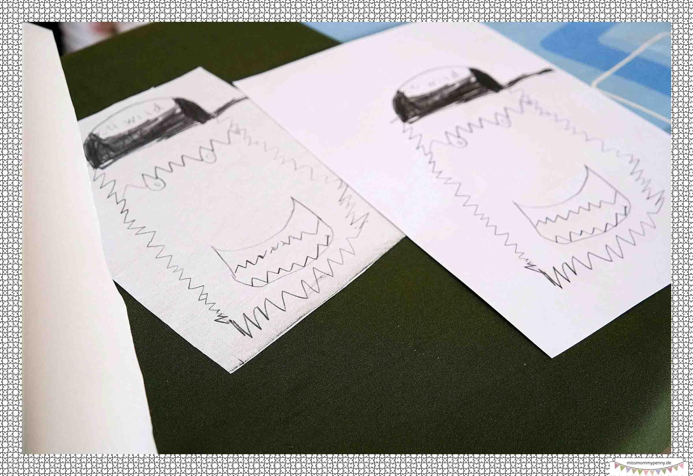 Gemalte Kinderbilder auf Stoff drucken - missmommypenny