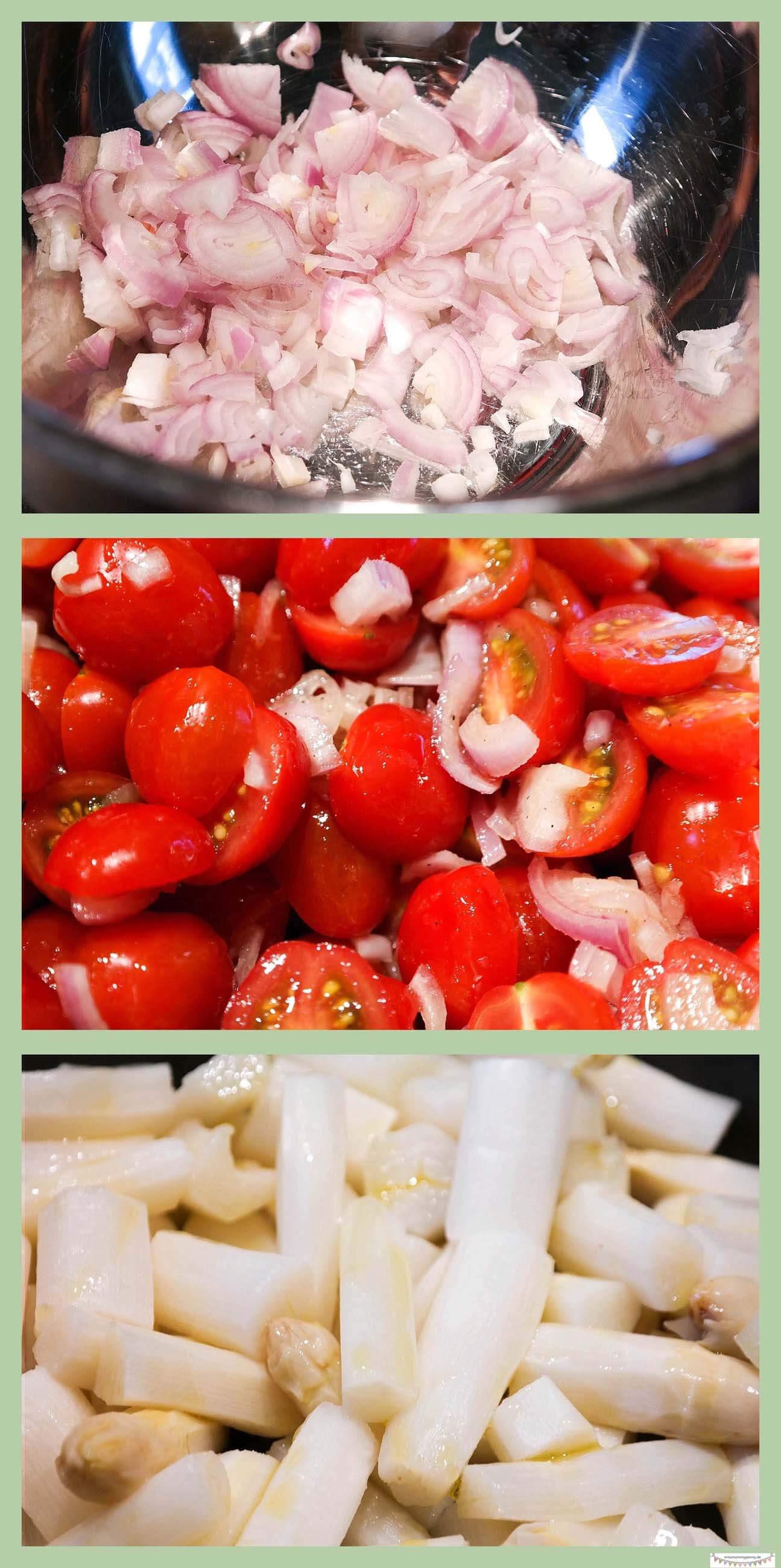 Leichter Spargelsalat mit Tomaten