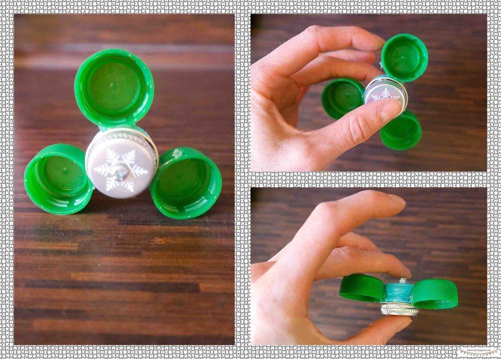 Handspinner aus Flaschendeckeln bauen