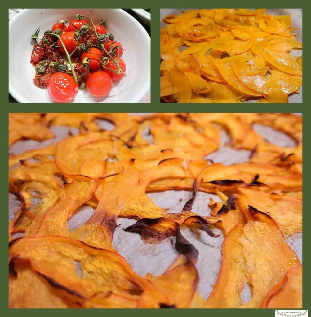 Kürbsischnitze im Ofen zubereiten