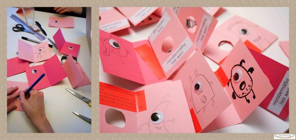 Valentinskarten für Kinder