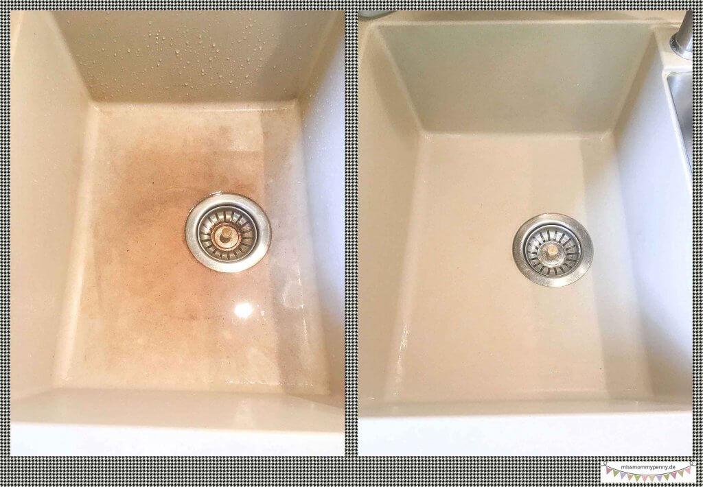 Natursteinspülen schnell reinigen - Reinigungstipp