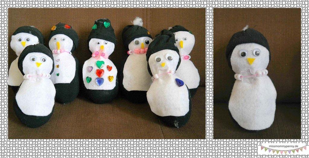 Stofftier Pinguin basteln