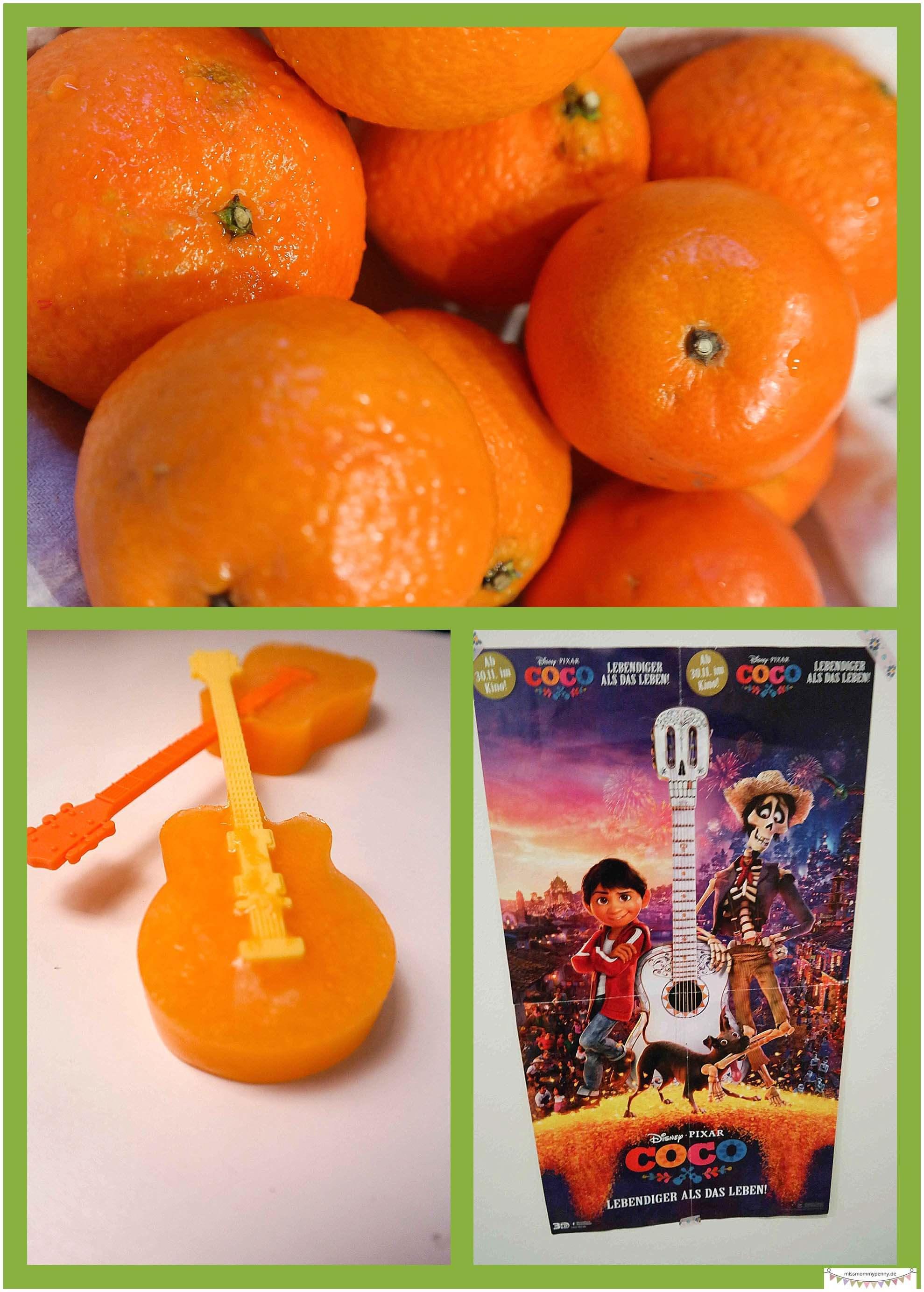Orangeneis - Speisen in Gitarrenform