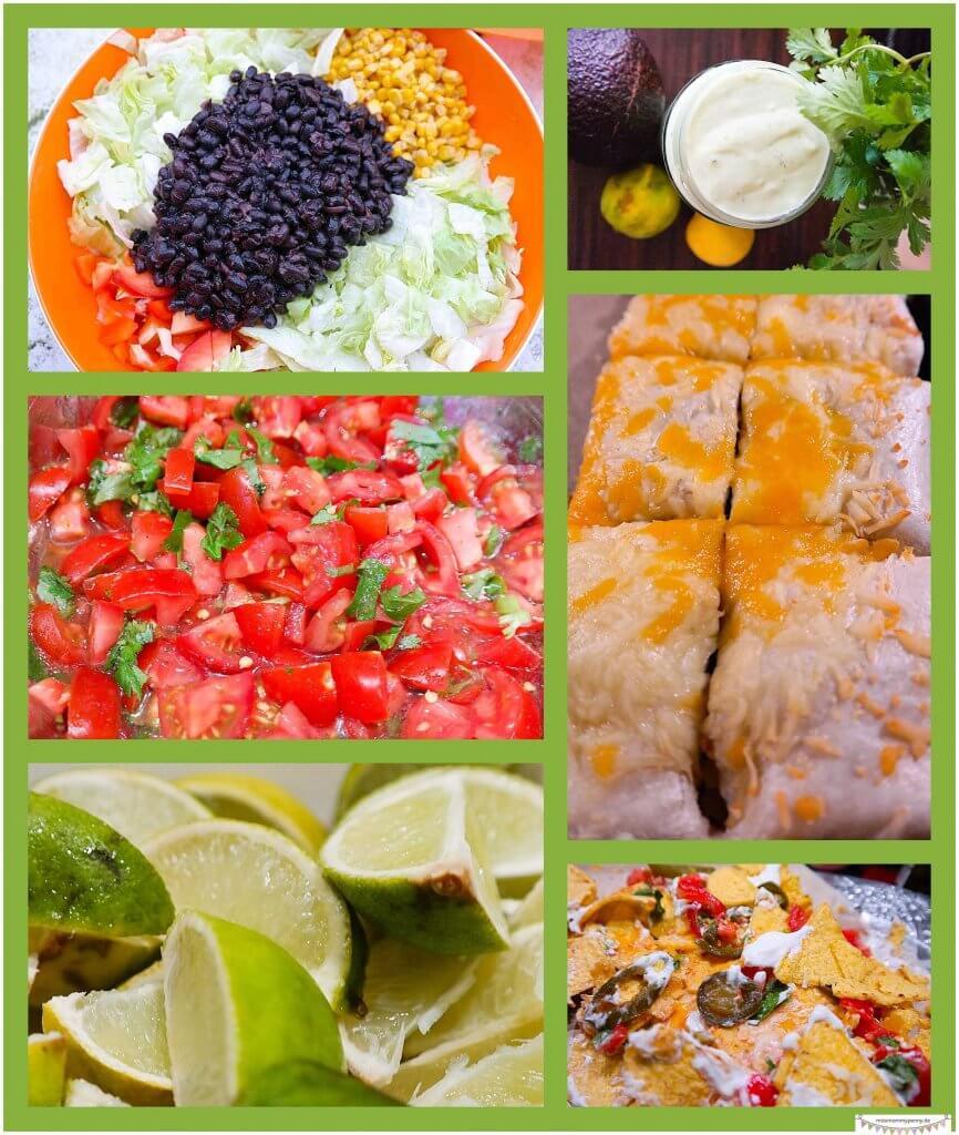 Mexikanische Nachos mit Salat